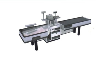 Automatic Supermarket Checkout Counter With Conveyor Belt Easy Assembled