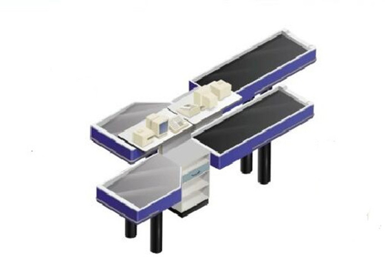 Firm Stable Supermarket Checkout Counter With Conveyor Belt Stainless Steel Countertops