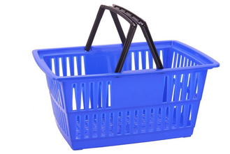 Custom Plastic Wire Shopping Baskets With Handles Printed Logo