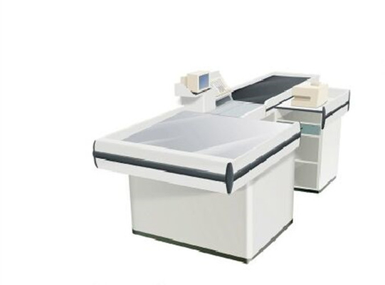 Anti Rust Automatic Conveyor Belt Checkout Counter / Boutique Cashier Counter