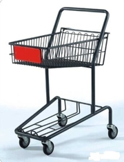 Heavy Duty Double Basket Shopping Trolley Steel Shop Cart With Baby Seat