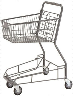 Supermarket Storage Hand Shopping Cart Grocery Basket With Wheels