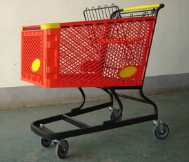 Virgin PP Unfolding Shopping Basket Trolley American Style Retail Carts180L
