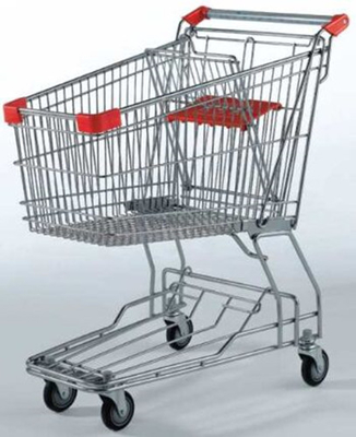 Portable Wheeled Shopping Trolley 125L Rolling Basket Carts With Wheels