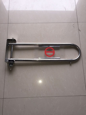 Silver Supermarket Swing Barrier Gate  800mm Stretched Length Fixup Entry Gate