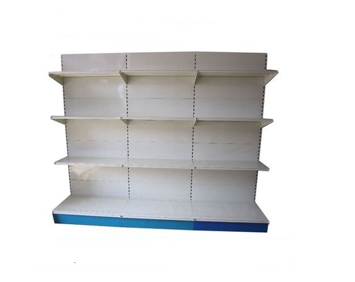 Adjustable Metal Supermarket Display Shelving , 4 Feet Long Single Side Candy Display Rack