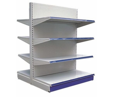 China Pegboard Supermarket Metal Display Shelving supplier