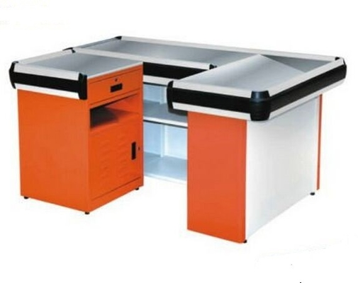 China Supermarket Checkout Cash Counter Table supplier