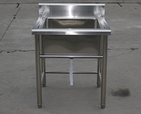 Industrial Stainless Steel Shelving Restarant Equipment Wash Sink With Tap Hole