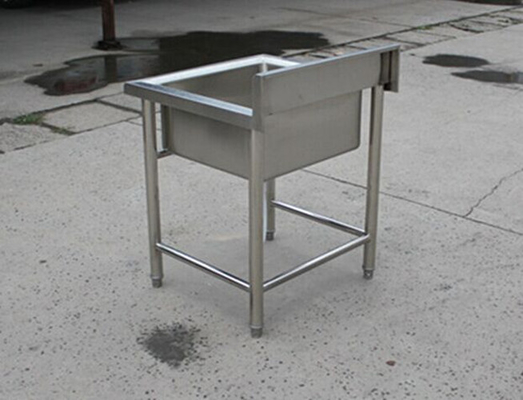 Kitchen Equipment Stainless Steel Display Racks Commercial Single Sink