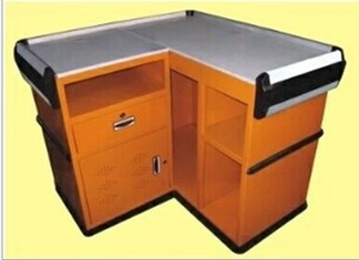 Customizable Supermarket Metal Check Out Counter Retail Shop Equipment Checkstand