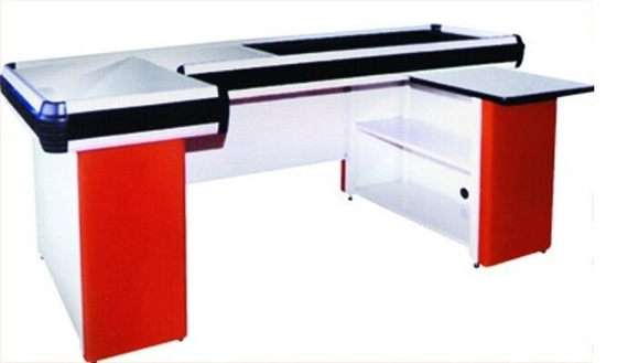 Electronic Conveyor Belt Checkout Counter For Supermarket / Hypermarket / Grocery Store
