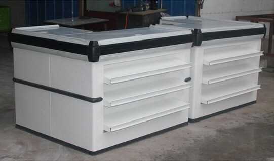 Combination Double Side Express Checkout Counter For Supermarket / Boutique