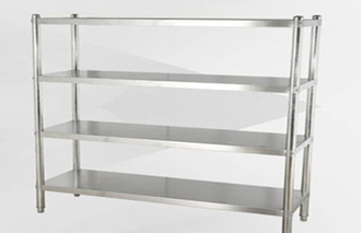 Collapsible Stainless Steel Display Racks / Storage Supermarket Heavy Duty Industrial Shelving