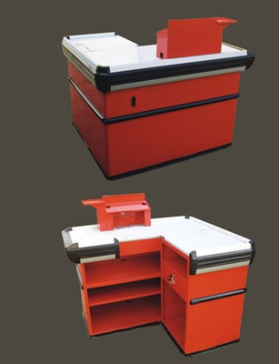 Retail Store Cashier Express Checkout Counter With Powder coating Finish