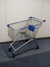 Four Wheels European Metal Shopping Trolley Cart With Baby Seat