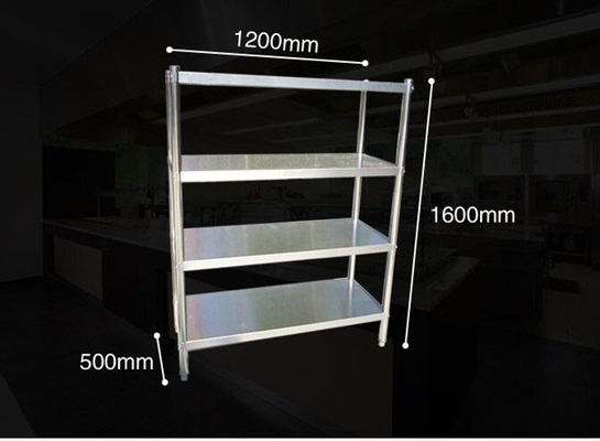 Anti - Rust Steel Storage Shelves , Kitchen Ladder Type Warehouse Storage Rack With Adjustable Legs