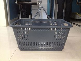 Grocery Store Plastic Handle Shopping Basket ,  PP Supermarket Shopping Baskets