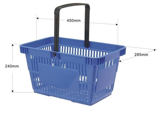 Red / Blue PP Plastic Hand Shopping Basket / Retail Shopping Baskets SGS ISO9002