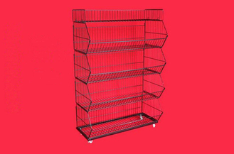 Custom Metallic Folding Large Wire Baskets For Storage / Wire Mesh Baskets