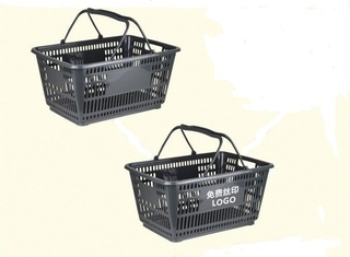 HDPP Supermarket Plastic Hand Shopping Basket , Fruit Vegetable Grocery Hand Baskets For Store / Shop