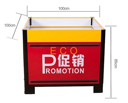 Fashion Design Metal Steel Supermarket Accessories Promotion Display Stands Table