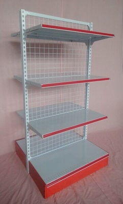 Storage Metal Wire Supermarket Display Shelving , Metallic Supermarket Drug Store Furniture
