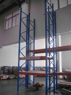 Heavy Duty Warehouse Storage Racks Stocking Iron Rack With Knockdown Structure