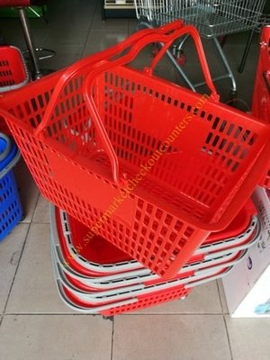 Retail Grocery Supermarket Hand Held Shopping Baskets 20kg Capacity