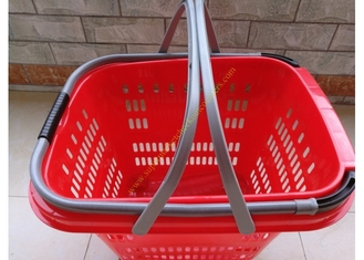 Duralumin Pull Rod Virgin Wheeled Shopping Baskets Shopping Trolley On Wheels