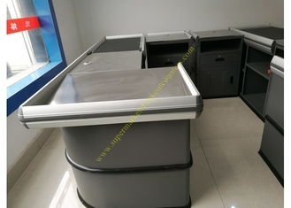 Electronic Supermarket Conveyor Belt Checkout Counter With Electrical Engine