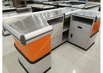Customized Made Stainless Steel Retail Checkout Counter / Grocery Store Checkout Counter