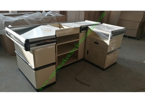 Stainless And Cold Rolled Steel Shop Checkout Counter Baking Paint Finish