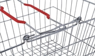Chrome Plated Metal Shopping Baskets With Handles / Wire Grocery Basket