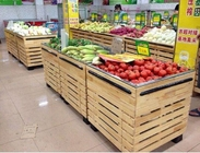 Best Custom Wooden grocery Store / Supermarket Display Shelving L1000*W1000*H850 mm
