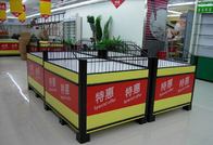 China Knockdown Metallic Supermarket Promotion  Display Table / Advertising Promotion Counter company
