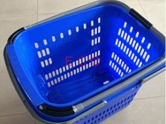 Virgin PP Rolling Shopping Basket With Wheels  /  Store Trolley Shopping Basket