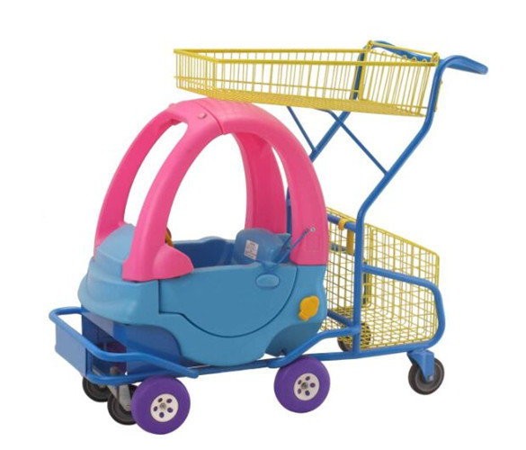 Plastic Kids Grocery Cart Childrens Shopping Trolley Supermarket  Steel Toy Car