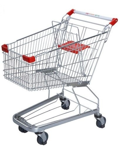 Germany Style Shopping Trolleys 5 Inch Grocery Hand Cart 1020×590×980 mm