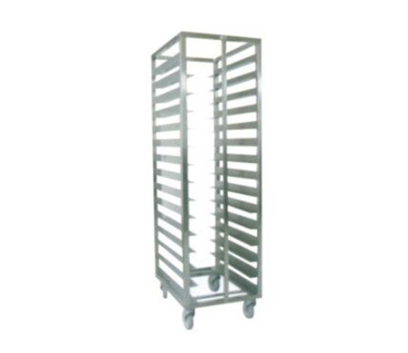 Wheeled Stainless Steel Display Racks Supermarket Bread Shelving