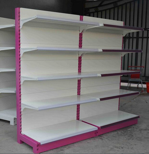 Custom Supermarket Display Shelving Metallic Gondola Shelf Anti - rust