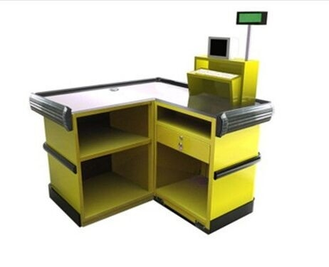 Supermarket Fast Checkout Counter / Cash Register Table Counter 1100×1100×850 mm
