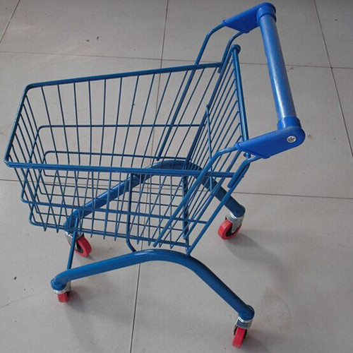 Kids Shopping Carts Supermarket Children Trolley 20L Zinc Plated