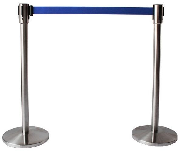 Stainless Steel Scalable Supermarket Swing Gate Safety Barrier With Belt