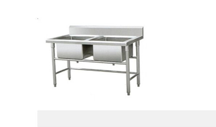 Square Metal Display Racks Stainless Steel Sink Hotel Catering Equipment
