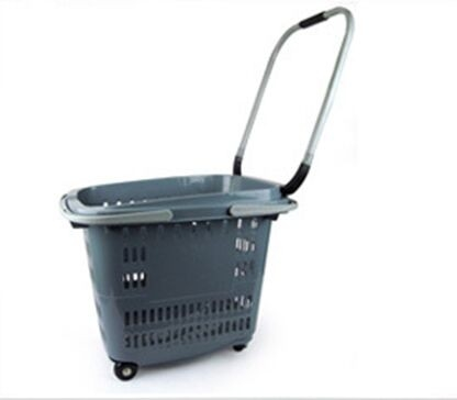 Heavy Loading Shopping Basket With Wheels And Handle Customized SGS ISO9002