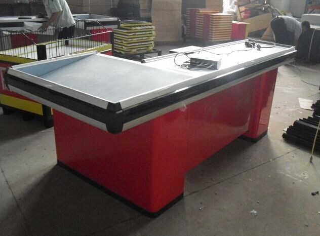 Grocery Store / Supemarket Conveyor Belt Checkout Counter Anti - Corrosion Durable