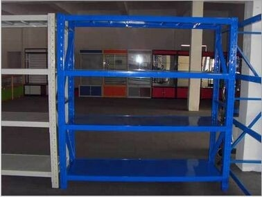 Adjustable Iron Material Sheet Warehouse Storage Racks / Heavy Duty Warehouse Shelving