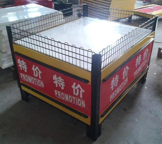 Folding Metal Promotion Supermarket Display Racks With Powder Coated SGS ISO9001