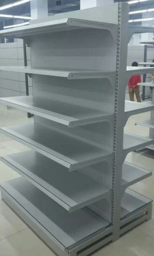 Cold Rolled Steel Supermarket Display Shelving Racks / Adjustable Storage Shelf